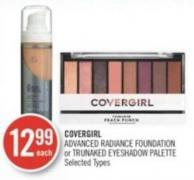 Covergirl Advanced Radiance Foundation or Trunaked Eyeshadow Palette