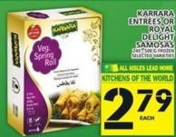 Karrara Entrées Or Royal Delight Samosas
