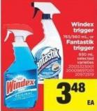 Windex Trigger - 765/960 mL - Or Fantastik Trigger - 650 mL
