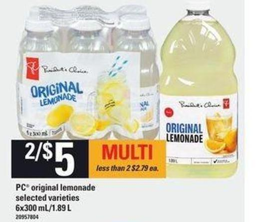PC Original Lemonade - 6x300 Ml/1.89 L