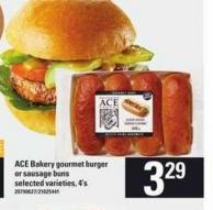 Ace Bakery Gourmet Burger Or Sausage Buns - 4's