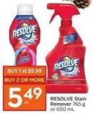Resolve Stain Remover 765 g or 650 mL
