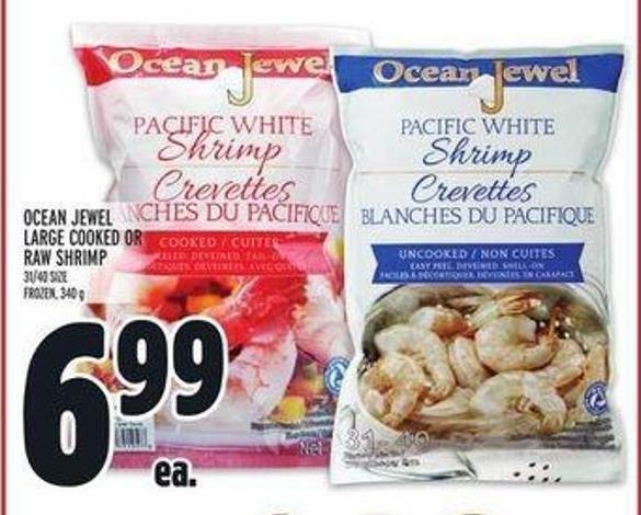 Ocean Jewel Large Cooked or Raw Shrimp