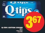 Q-tips Cotton Swabs - 500's