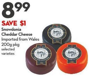 Snowdonia  Cheddar Cheese Imported From Wales 200g Pkg