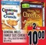 General Mills Family Size Cereal 526 - 778 g
