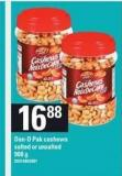 Dan-d-pak Cashews Salted Or Unsalted - 908 G