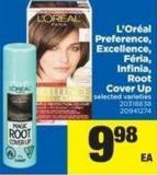 L'oréal Preference - Excellence - Féria - Infinia - Root Cover Up