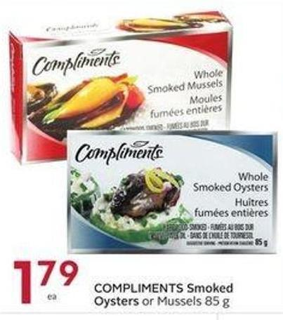 Compliments Smoked Oysters