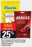 Ricola Lozenges 32-75 G - Halls Lozenges Bags Or Sticks - 9-30's Or Tums Antacids