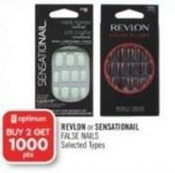 Revlon or Sensationail False Nails