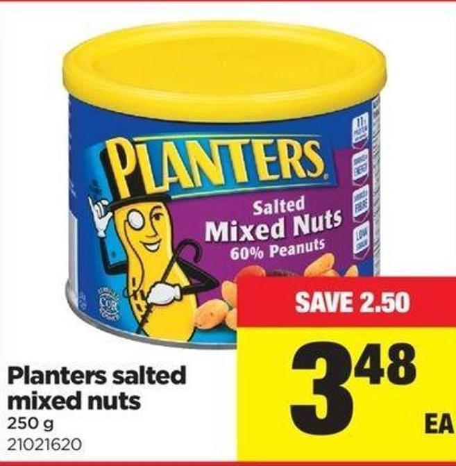 Planters Salted Mixed Nuts - 250 G