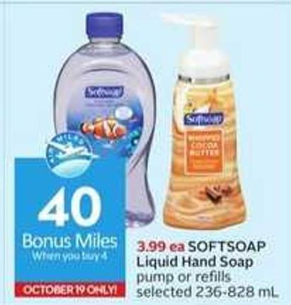 Softsoap Liquid Hand Soap - 40 Air Miles Bonus Miles