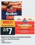Maple Leaf Top Dogs Or Schneiders Red Hots Wieners