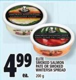 Elite Smoked Salmon Pate Or Smoked Whitefish Spread 200 g