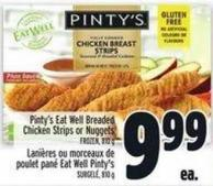Pinty's Eat Well Breaded Chicken Strips Or Nuggets