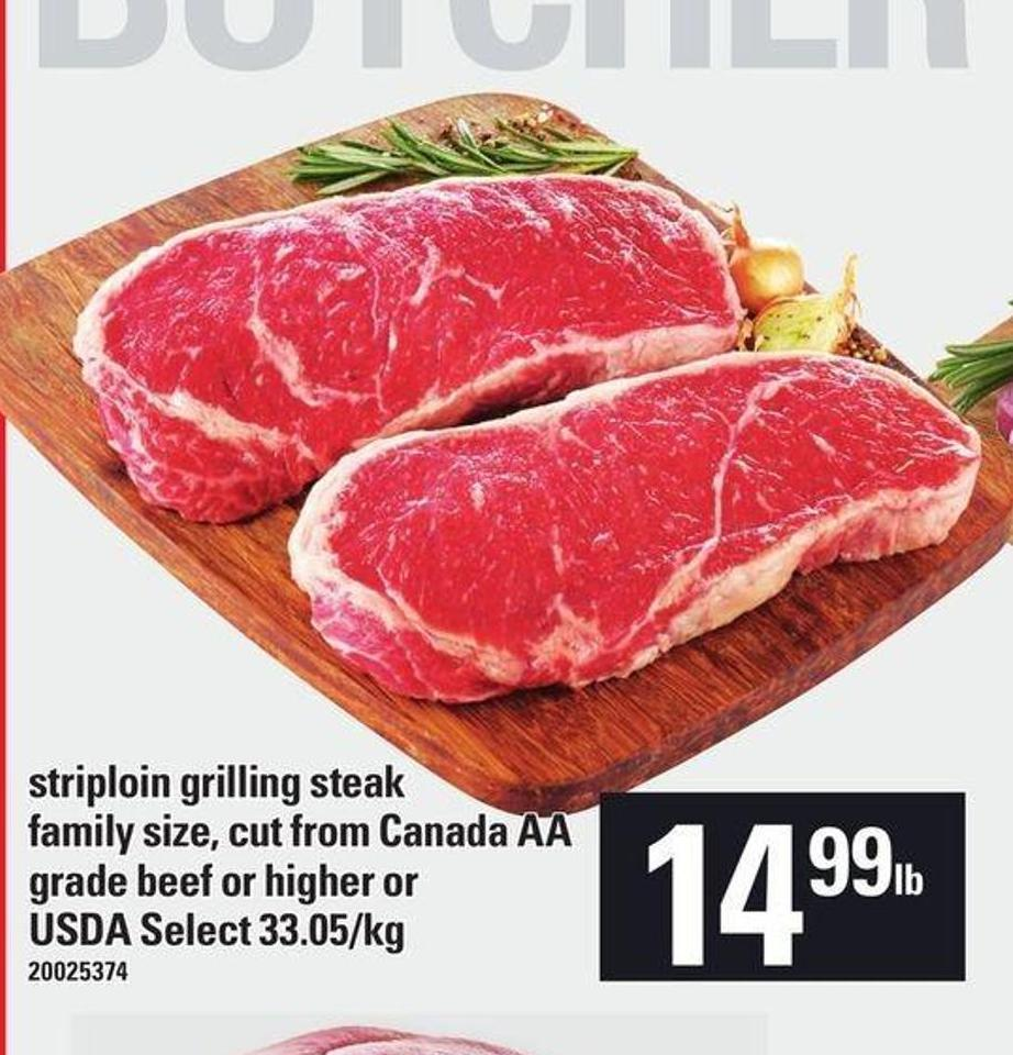 Striploin Grilling Steak