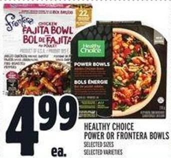 Healthy Choice Power Or Frontera Bowls