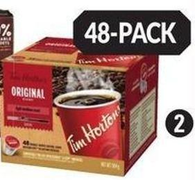 Tim Hortons Original or Dark Roast Coffee Pods - 48-ct.