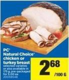 PC Natural Choice Chicken Or Turkey Breast