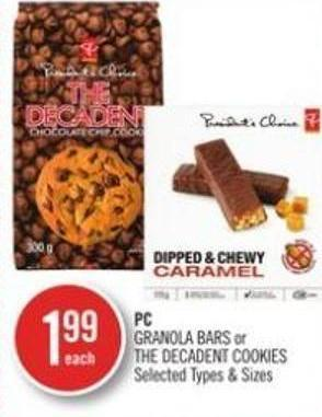 PC Granola Bars or The Decadent Cookies