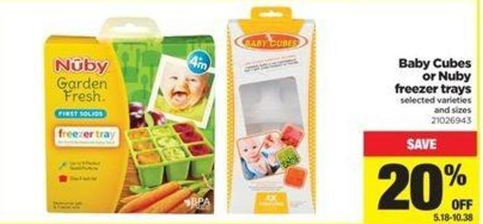 Baby Cubes Or Nuby Freezer Trays