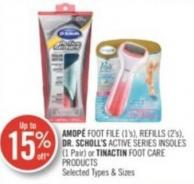 Amopé Foot File (1's) - Refills (2's) Dr. Scholl's Active Series Insoles (1 Pair ) or Tinactin Foot Care Products