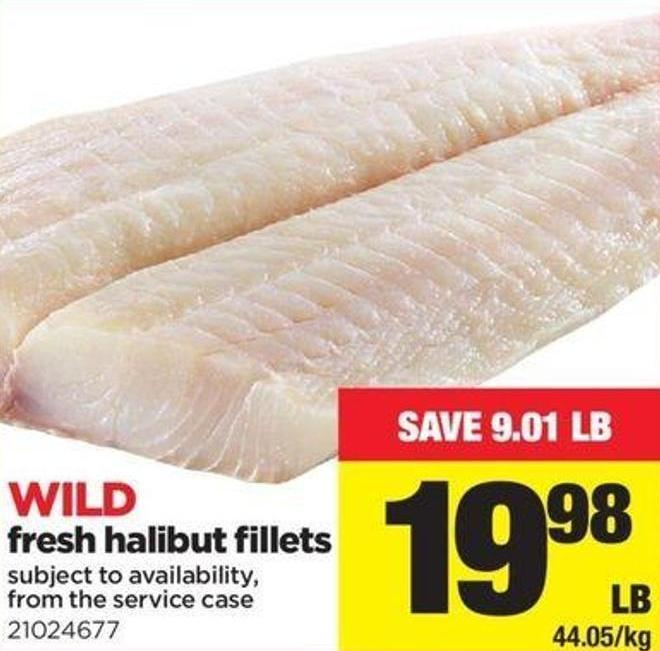 Wild Fresh Halibut Fillets