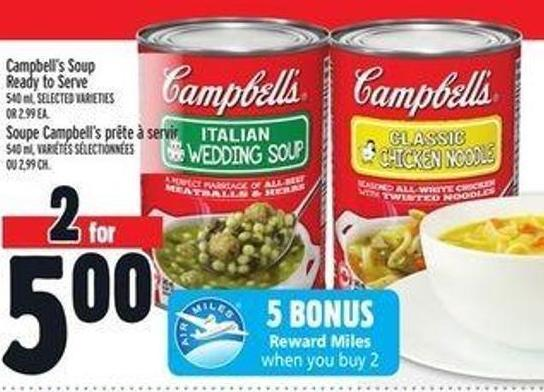 Campbell's Soup Ready To Serve