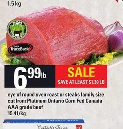 Eye Of Round Oven Roast Or Steaks