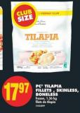 PC Tilapia Fillets  - Skinless - Boneless - 1.36 Kg