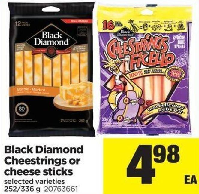 Black Diamond Cheestrings Or Cheese Sticks - 252/336 G