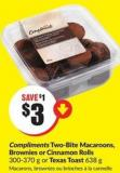 Compliments Two-bite Macaroons - Brownies or Cinnamon Rolls 300-370 g or Texas Toast 638 g