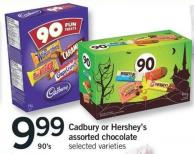 Cadbury Or Hershey's Assorted Chocolate - 90's