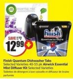 Finish Quantum Dishwasher Tabs Selected Varieties 40-55 Pk Airwick Essential Mist Diffuser Kit Selected Varieties