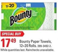 Bounty Paper Towels - 12=20 Rolls