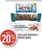 Selected Protein or Energy Bars