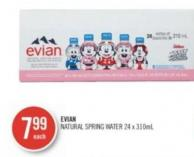 Evian Natural Spring Water 24 X 310ml