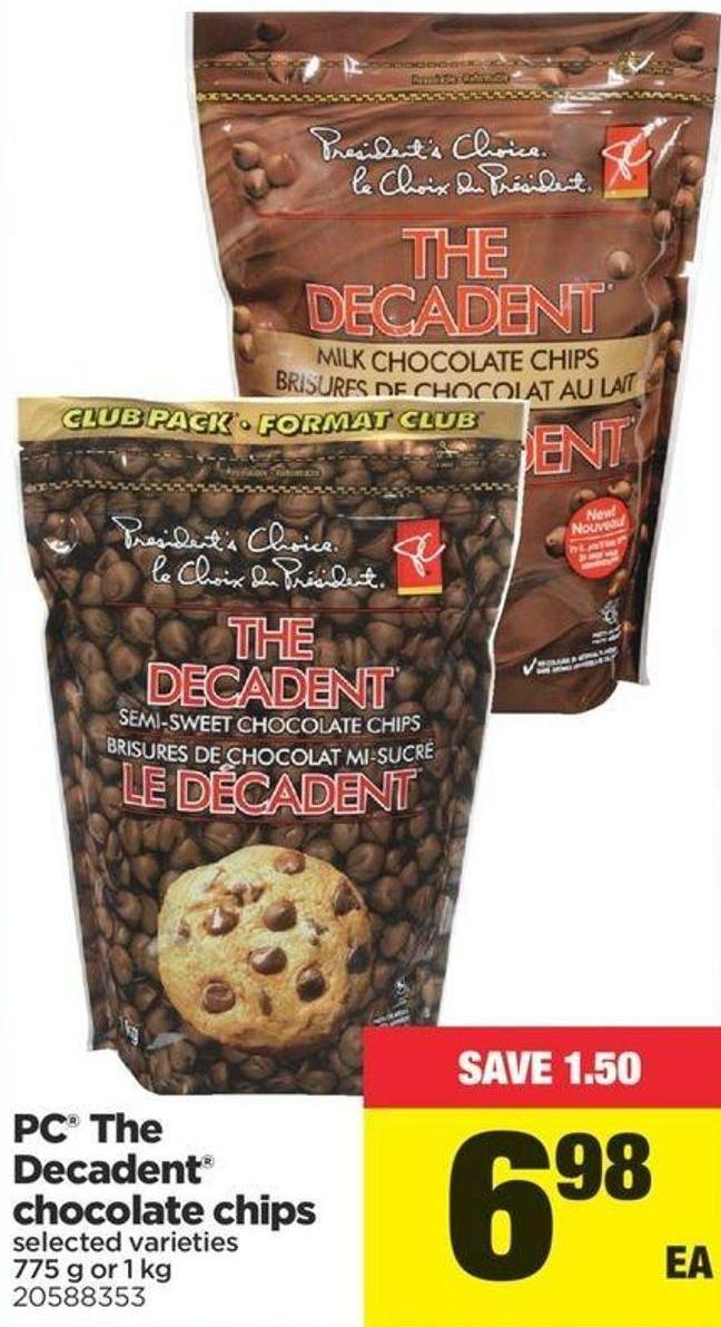 PC The Decadent Chocolate Chips - 775 G Or 1 Kg