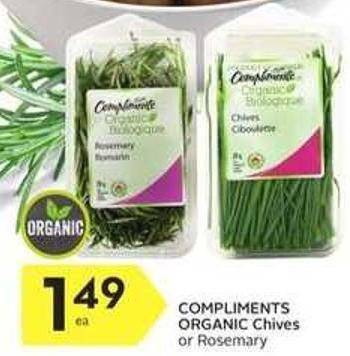 Compliments Organic Chives