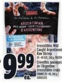 Irresistibles Wild Caught Argentinean Raw Shrimp 20 - 40 Size - 340 g Frozen