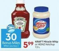 Kraft Miracle Whip - 30 Air Miles Bonus Miles