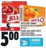 Jell-o Jelly Powder 5 Bonus Reward Miles When You Buy 5