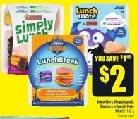 Schneiders Simply Lunch - Stackers or Lunch Mate Kits 81-132 g