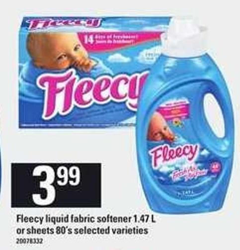 Fleecy Liquid Fabric Softener - 1.47 L Or Sheets - 80's