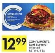 Compliments Beef Burgers