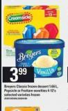 Breyers Classic Frozen Dessert 1.66 L - Popsicle Or Fruttare Novelties 4-12's