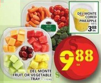 Del Monte Fruit Or Vegetable Tray