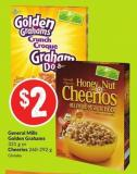 General Mills Golden Grahams 331 g or Cheerios 260-292 g