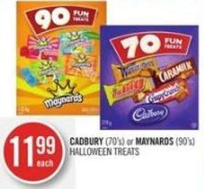Cadbury (70's) or Maynards (90's) Halloween Treats